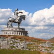 Statue of Genghis Khan, Ulan Bator , Mongolia — Stock Photo