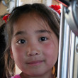 Mongolian girl in train to Ulaanbaatar — Stock Photo #22670739