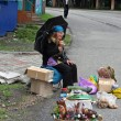 Buyrat woman in Arshan, Russia - Foto Stock