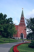 Borovitskaya Tower of Moscow Kremlin, Russia — Stock Photo
