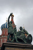 Monument to Minin and Pozharsky on the Red Square — Stock Photo