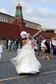 Wedding, red square, Moscow, Russia — Foto Stock