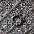 Old door with ornament in stone wall in Royal Wawel Castle, Cracow, Poland — Stock Photo
