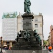 Monument of Adam Mickiewicz at Main Market at Krakow — Stock Photo