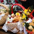 Royalty-Free Stock Photo: Traditional Easter basket with food in Polish countryside