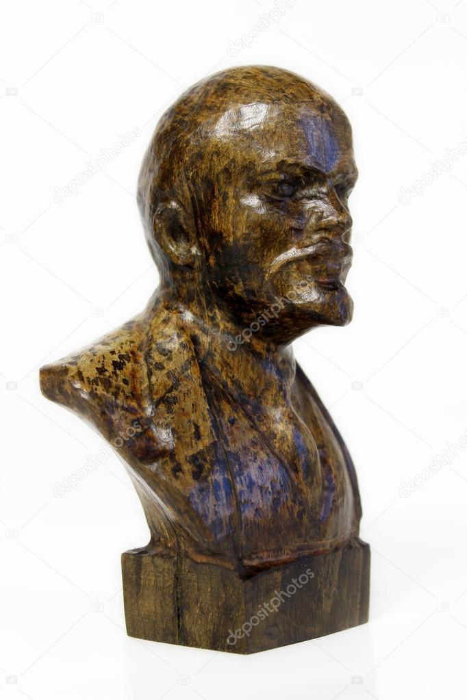 雕塑的木头雕刻列宁