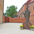 Pope John Paul II statue in Cracow. Poland — Stock Photo