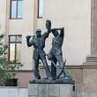 Bronze Statues in University of Science and Technology In Krakow, Poland — Stock Photo #27569985