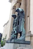 Bronze Statues in University of Science and Technology In Krakow, Poland — Stock Photo