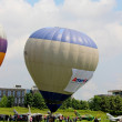 Hot air balloon inflating for launch - airshow cracow 2013 — Foto Stock