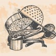 Baking accessories, retro set — Stockvector #28875935