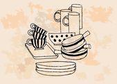 台所機器 — ストックベクタ