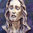 Face of Jesus, sculpture in cemetery — Stock Photo #28964263
