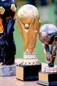Simple soccer trophies — Stock Photo