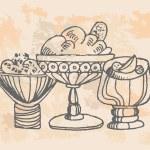 Ice cream set  Hand drawn illustrations  — Stock Vector #29305285