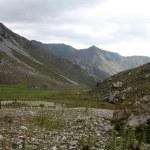 Kyrgyzstan Nature Landscape in Arslanbob — Stock Photo #30136237