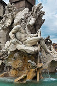 "Detail of the ""Fountain of the Four Rivers"", Rome, Italy — Stock Photo"