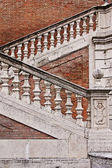 Staircase with a balustrade in old house, Rome, Italy — Stock Photo