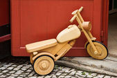 Bicycle wooden toy — Stock Photo