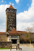 Rothenburg ob der tauber, torre rodertor — Foto Stock