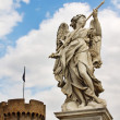 Marble statue of angel by Bernini against the background of Cast - Stock Photo