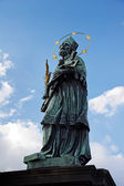 St. John of Nepomuk, Charles bridge, Prague, Czech republic — Stock Photo