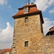 The defensive tower of medieval fortress, Germany — Stock Photo