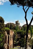 Ancient basilica church Santi Giovanni e Paolo, Roma, Italy — Stock Photo