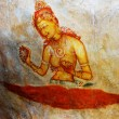 Ancient fresco on mount Sigiriya, Sri Lanka — Stock Photo #37911017