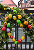 Easter in european city — Stock Photo