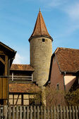 Medieval tower in Rothenburg ob der Tauber, Germany — Stock Photo
