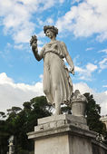 One of the four allegorical sculptures in Piazza del Popolo — Stock Photo