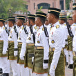 Royal Malaysia Regiment Ready at national day parade — Stock Photo