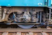 Roues d'une locomotive — Photo