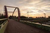 Bicycle bridge — Stock Photo