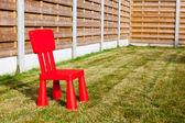 Planket whit stol — Stockfoto