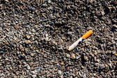Smoked cigarette — Stock Photo