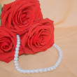 Stock Photo: Roses and pearls