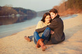 Couple on the beach — Stock Photo