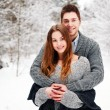 Young couple in cold weather — Stock Photo #23101604