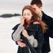 Stock Photo: Young couple in cold weather