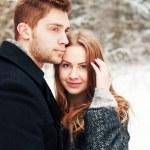 Winter portrait of couple in love — Stock Photo #23101702