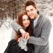 Winter portrait of couple in love — Stock Photo #23101832