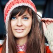 Girl in warm hat. — Stock Photo #23115482
