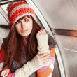 Young pretty in cold weather — Stock Photo