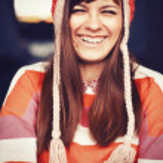 Girl in warm hat. — Stock Photo