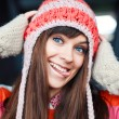 Girl in warm hat. — Stock Photo #23115520