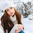 Beautiful brunette in Winter Park — Stock Photo #23340084