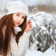 Girl in the winter forest. — Stock Photo #23340092