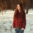 Royalty-Free Stock Photo: Woman in the winter forest